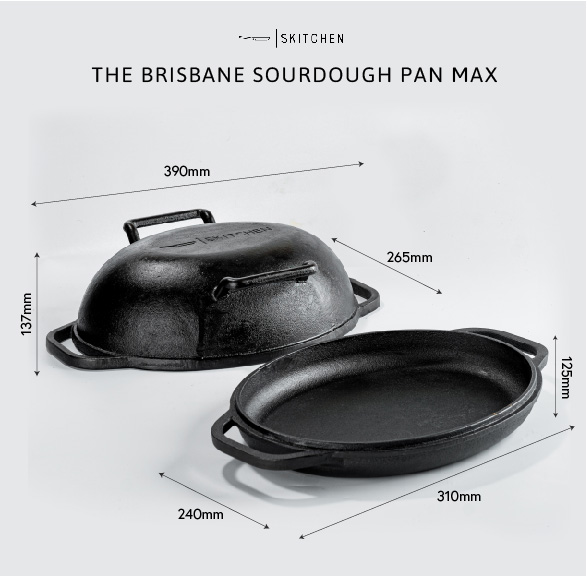 Dimensions of the Sourdough Pan Max