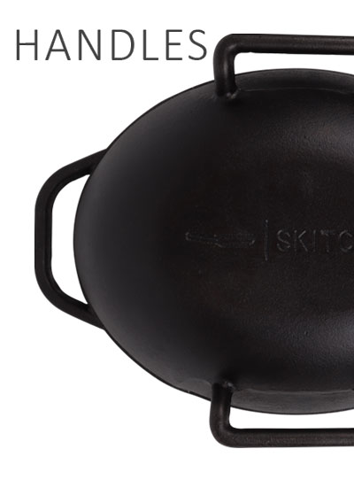 Cast Iron Bread Ban with Side Handles